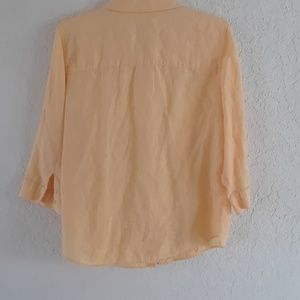 Chico's Tops - Chico's butter yellow linen shirt